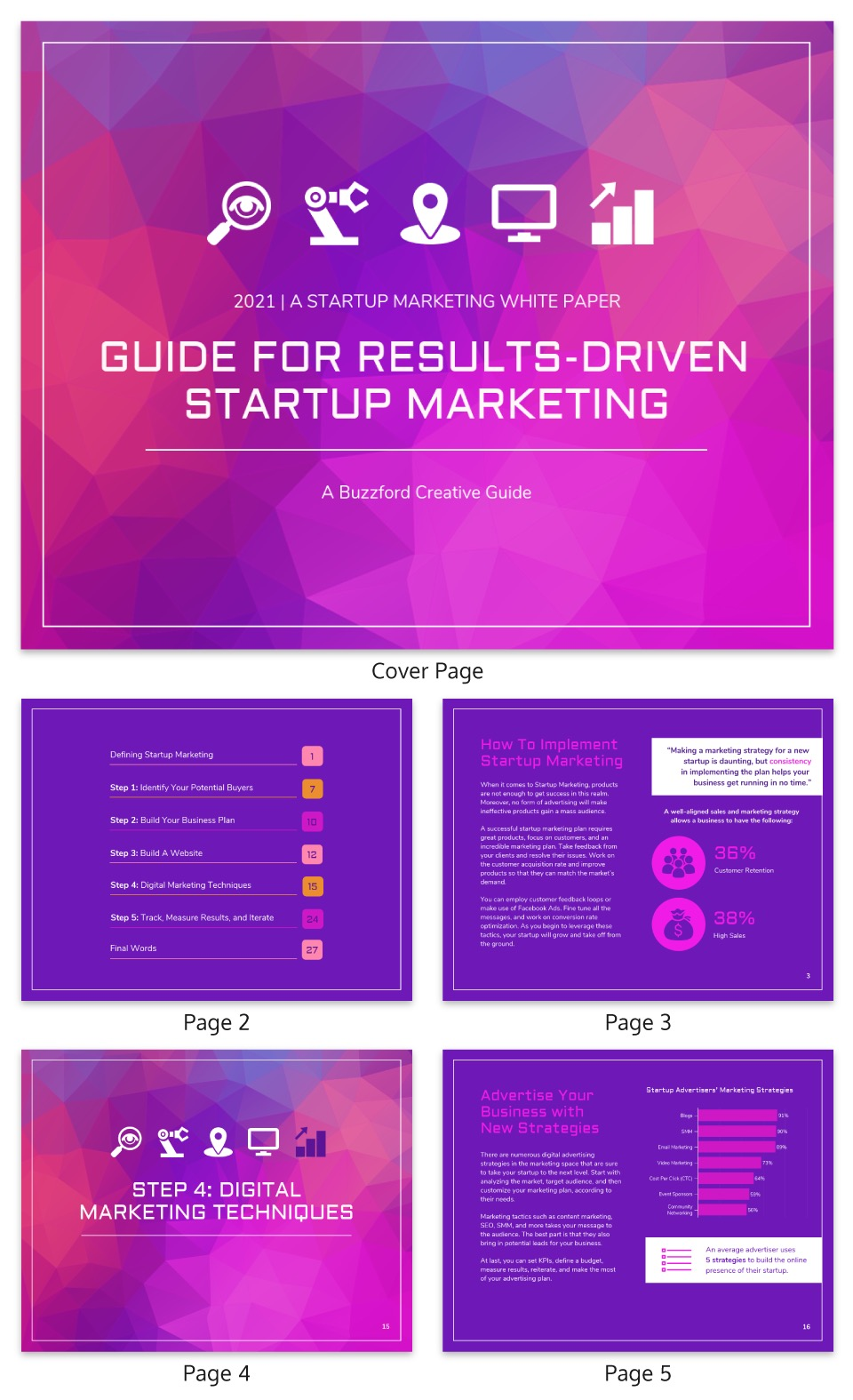 Violet Startup Marketing White Paper Example
