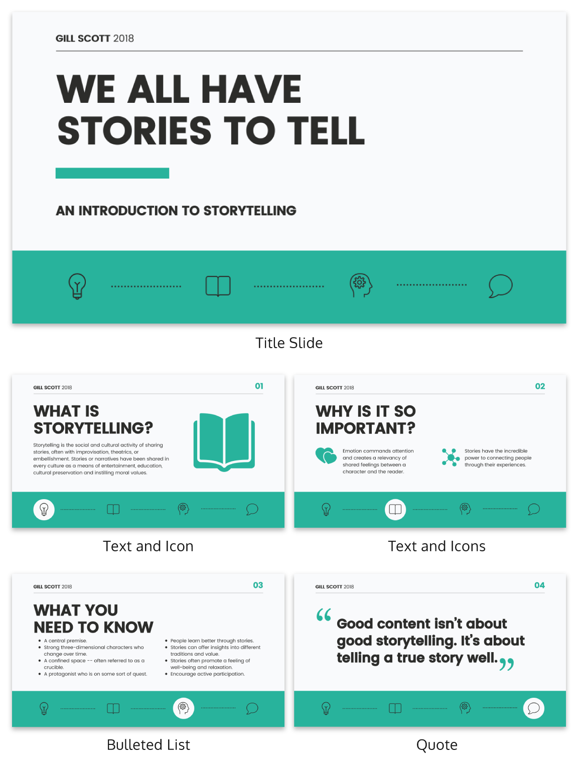Storytelling Business Presentation Ideas