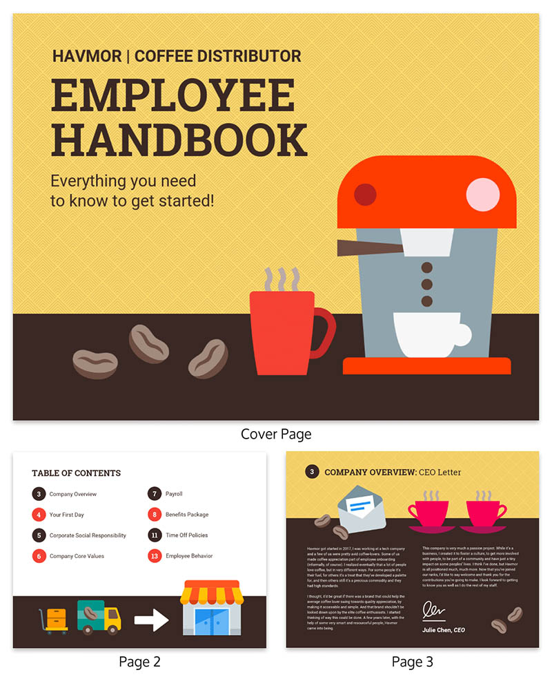 How To Write An Employee Handbook [Examples + Tips]