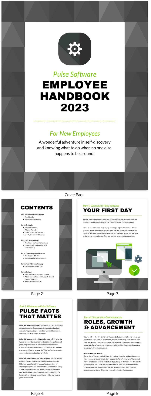 grey triangle employee handbook template