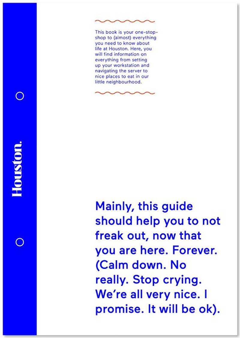 houston employee handbook example