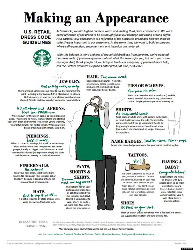 starbucks employee handbook example