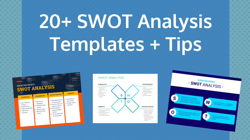 swot analysis templates and tips header