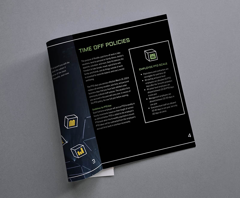 venngage employee handbook example grey