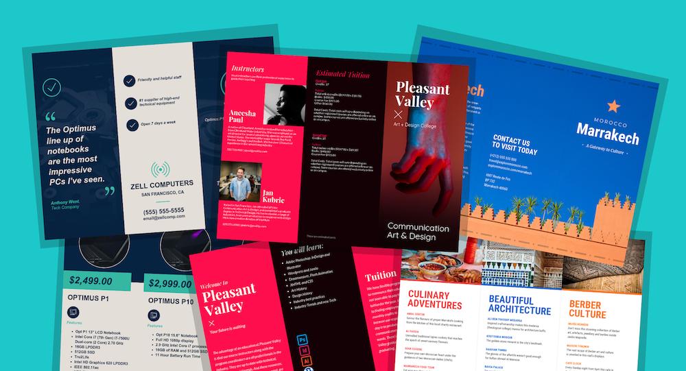 21 broschyrmallar och designtips