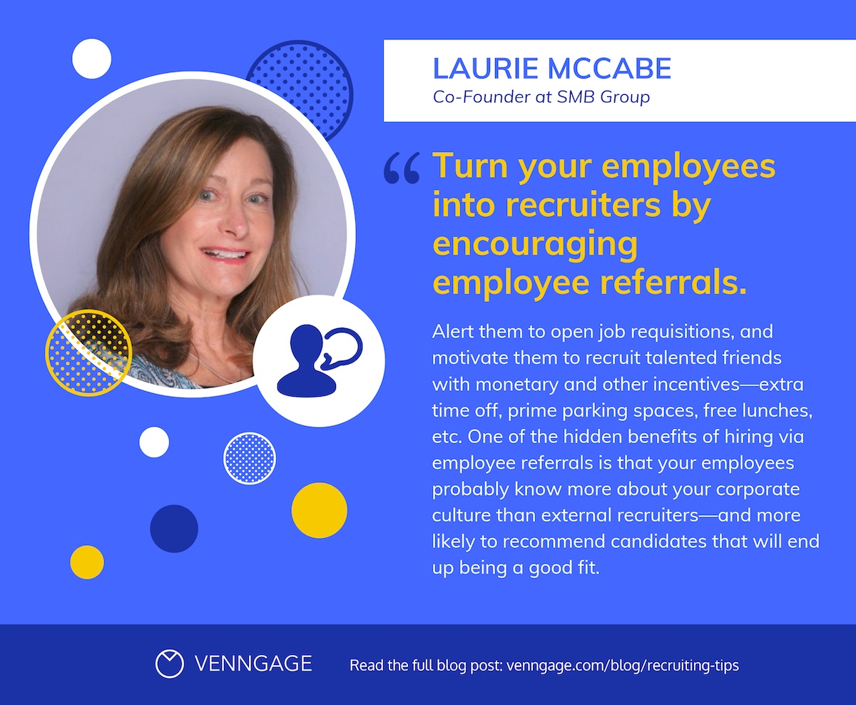 %22Laurie McCabe%22 Quote + Recruiting Tips