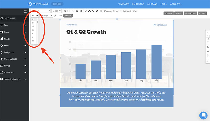 Adjust image opacity on your statistical infographic venngage