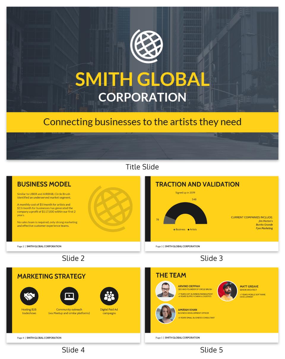 Smith corporation global presentation template