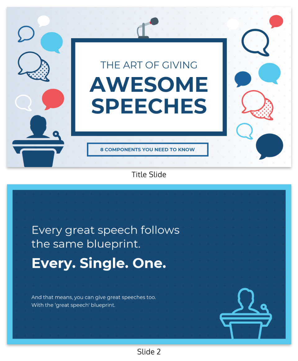 The art of giving awesome speeches persuasive presentation template