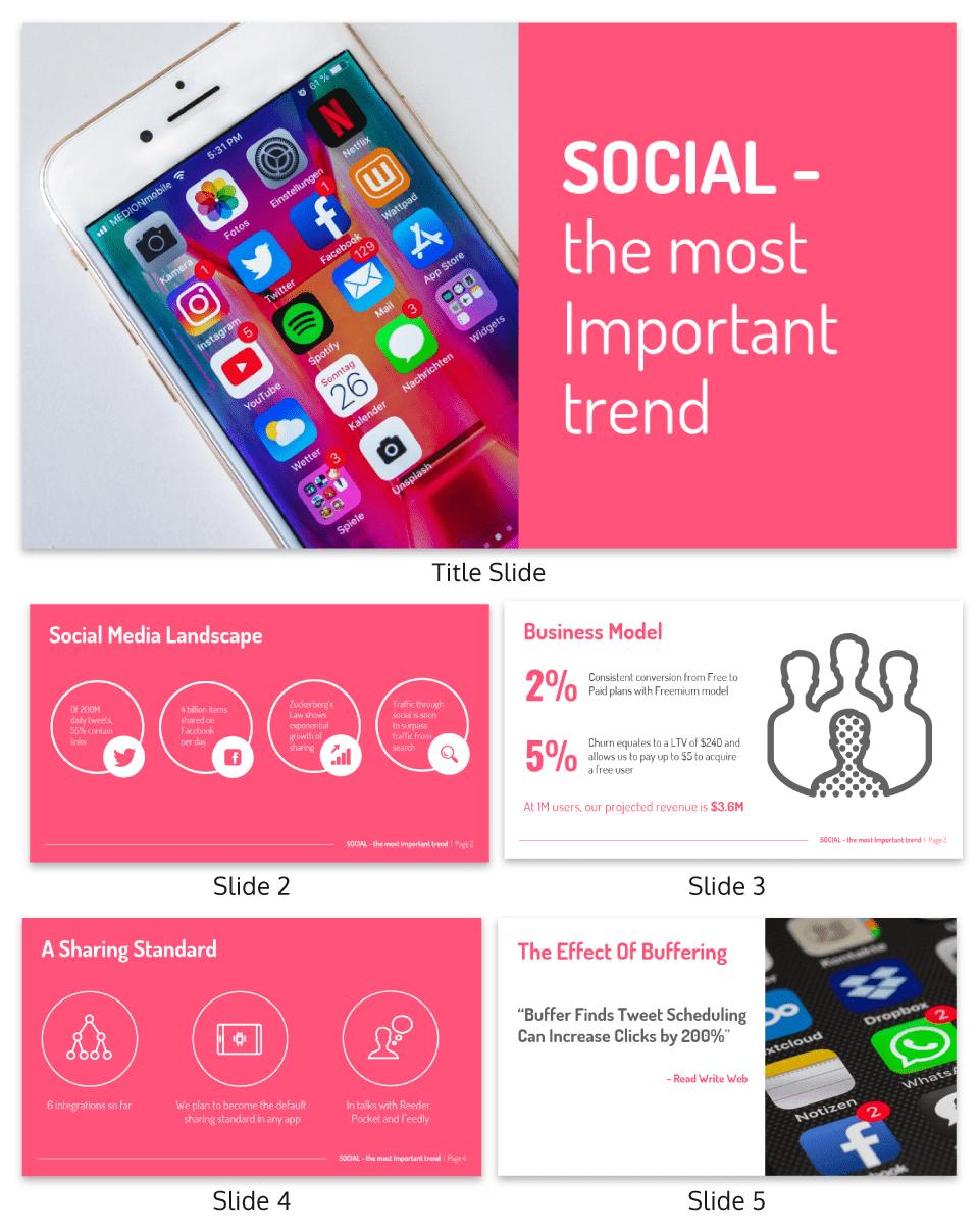 Venngage persuasive presentation template social media