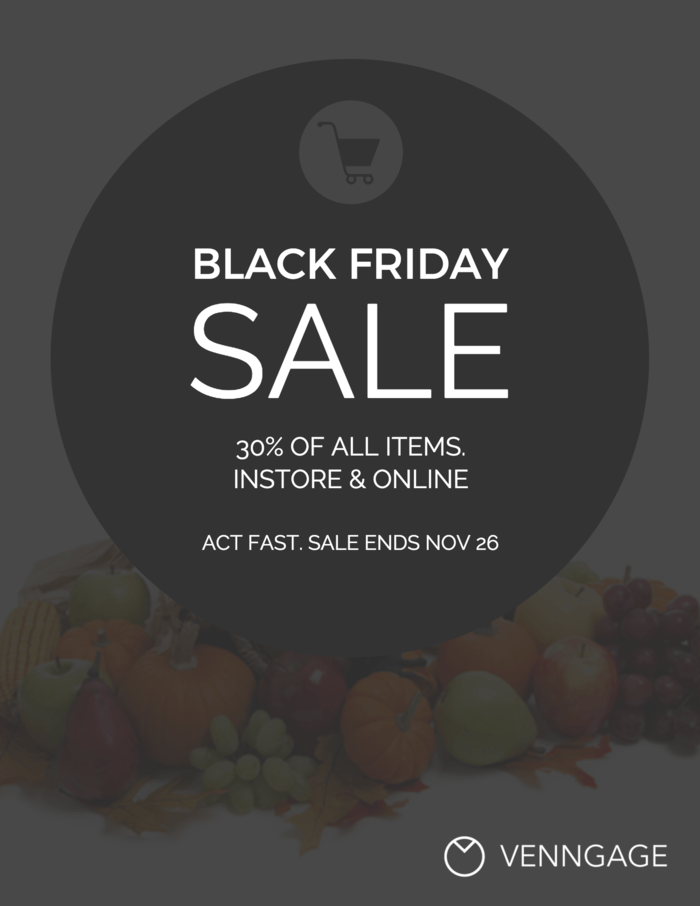 Black Friday Event Poster Design Template