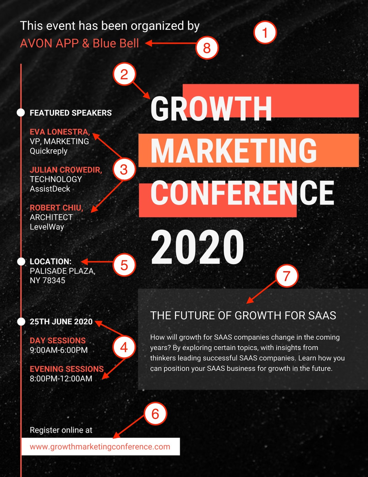 Bold Growth MarketingConference Event Poster Template