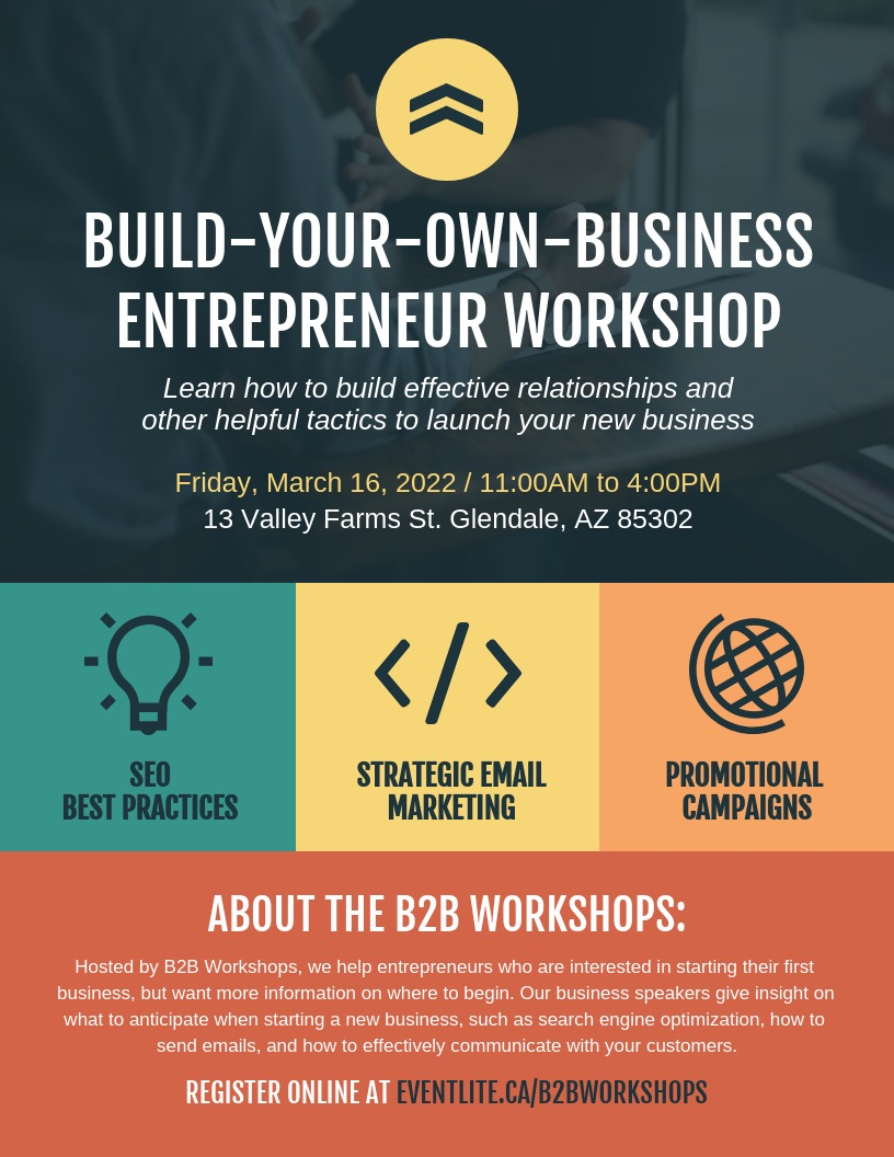 Business Entrepreneur Workshop Event Poster Design Template
