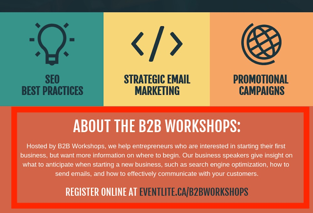 Business Entrepreneur Workshop Event Poster Design Template2