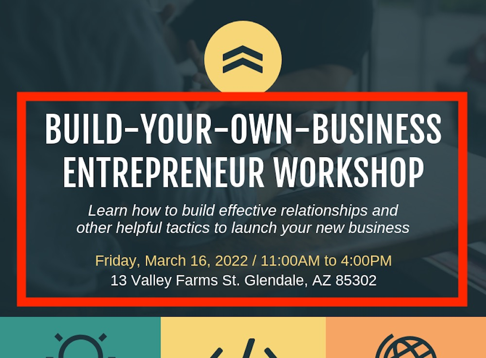 Business Entrepreneur Workshop Event Poster Design Template3