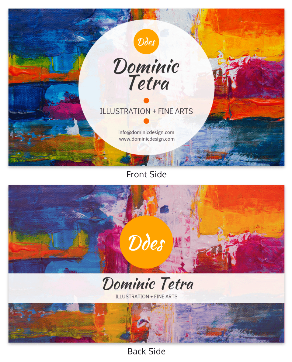 Colorful Painter Business Card Template