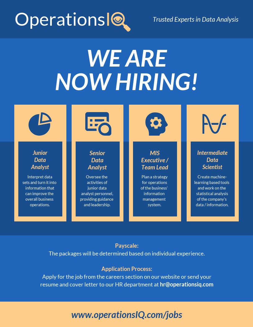 Company Job Hiring Poster Design Template