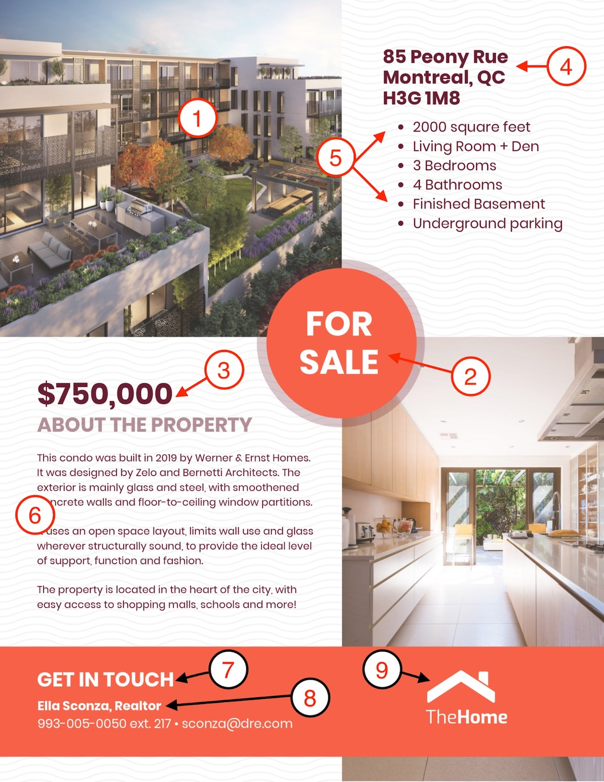 Condo Real Estate Sale Flyer Template
