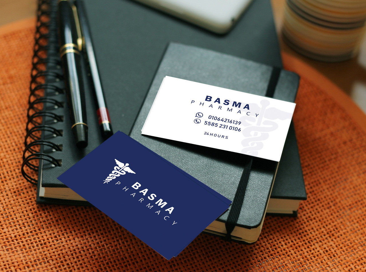 Dark Blue Business Card Examples