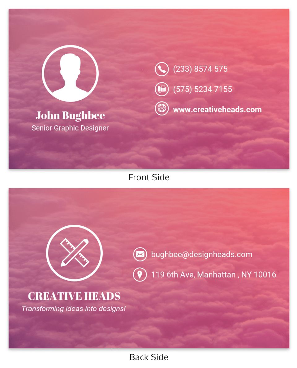 Gradient Creative Professional Business Card Template