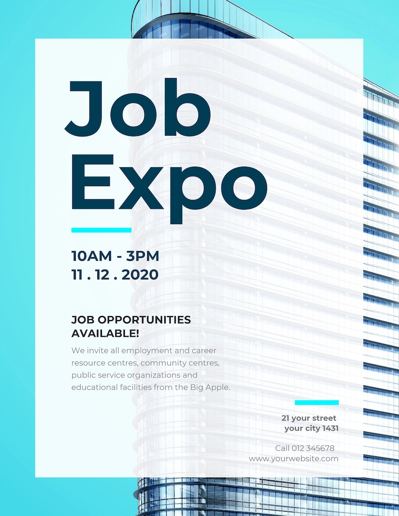 Job Fair Event Poster Design Template