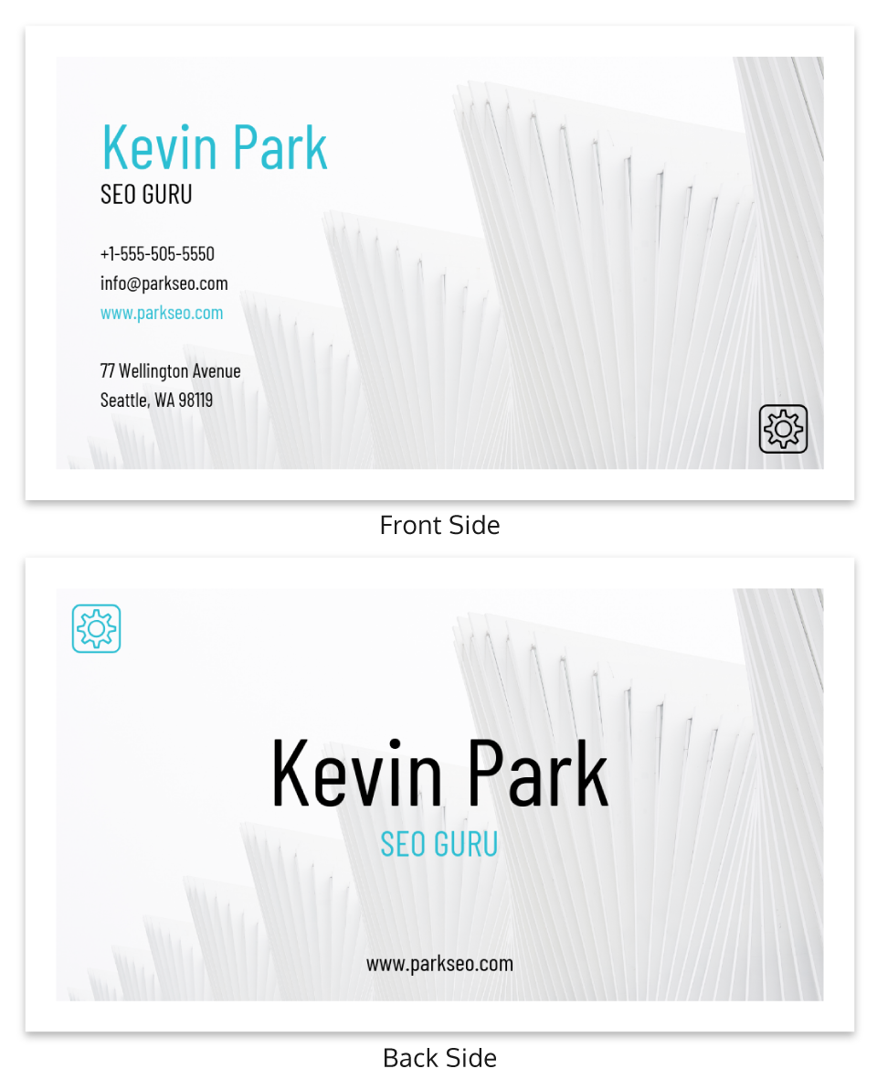 Light Simple Personal Business Card Template