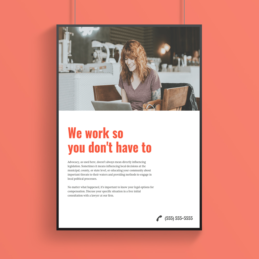 Minimalist Modern Business Poster Design Template