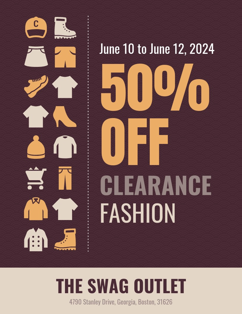 Modern Sale Poster Design Template