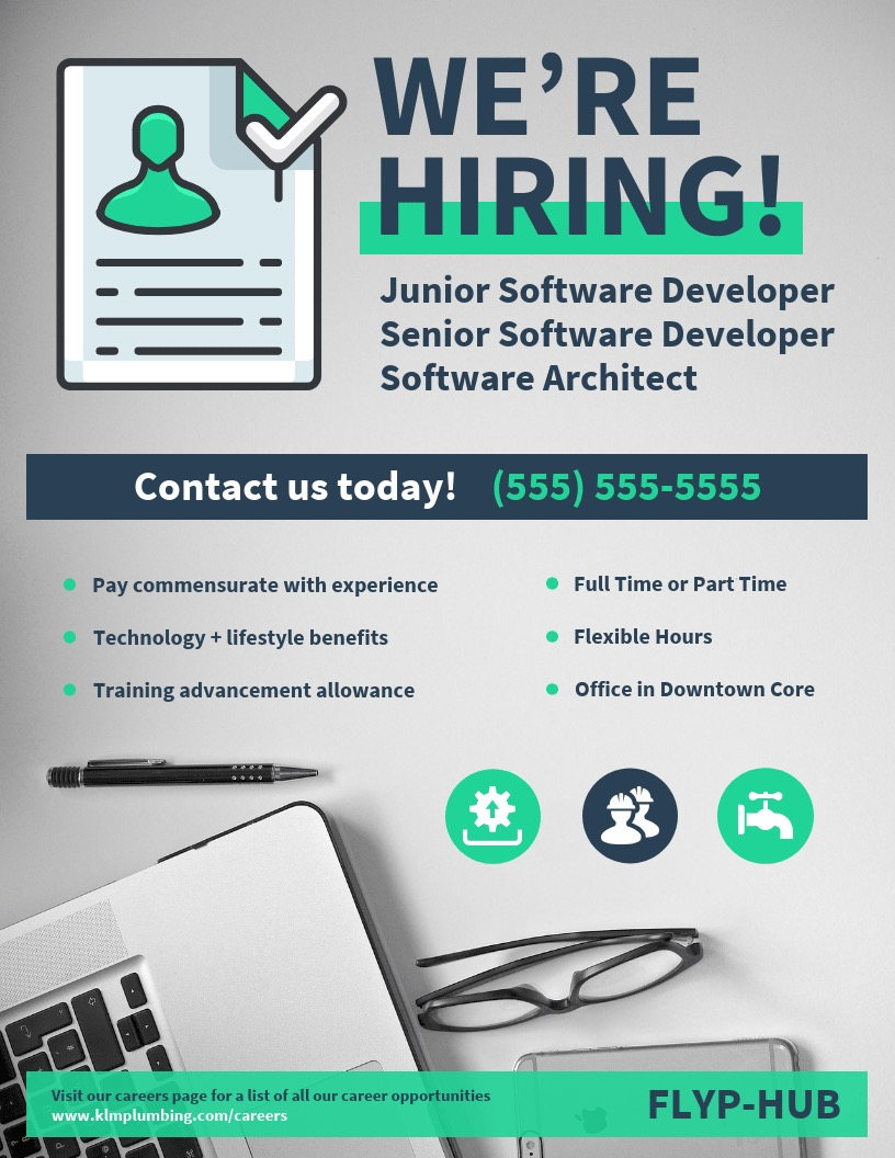 Now Hiring Poster Design Template