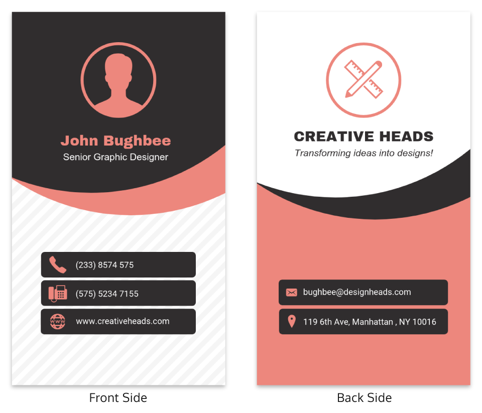 Professional Vertical Business Card Template