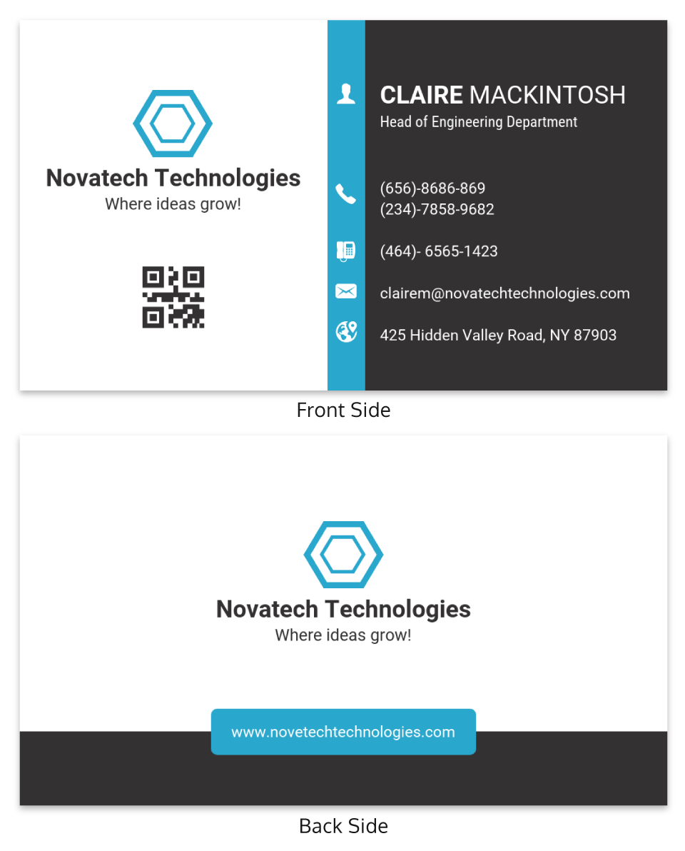 Simple Technology Business Card Template