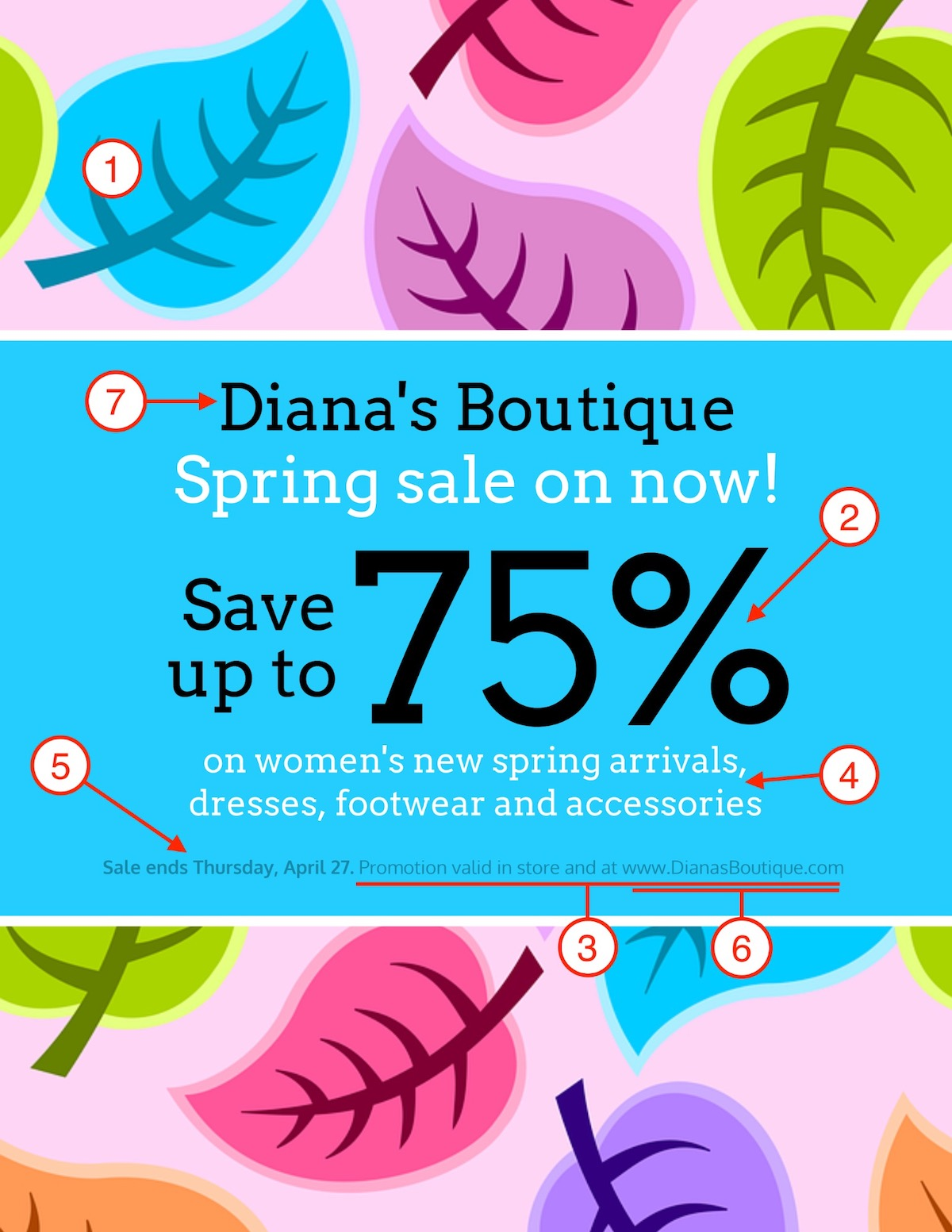 Spring Sale Poster Design Template