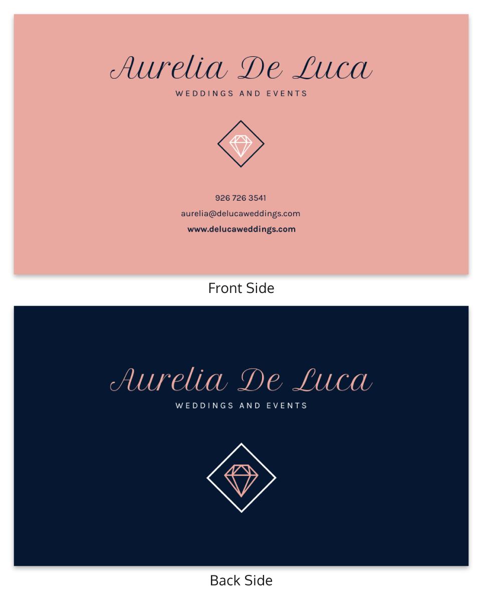 Wedding Event Planner Business Card Template