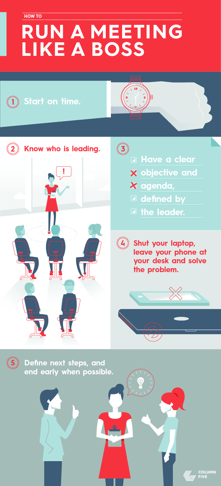 How to Run a Meeting Like a Boss Leadership Infographics2