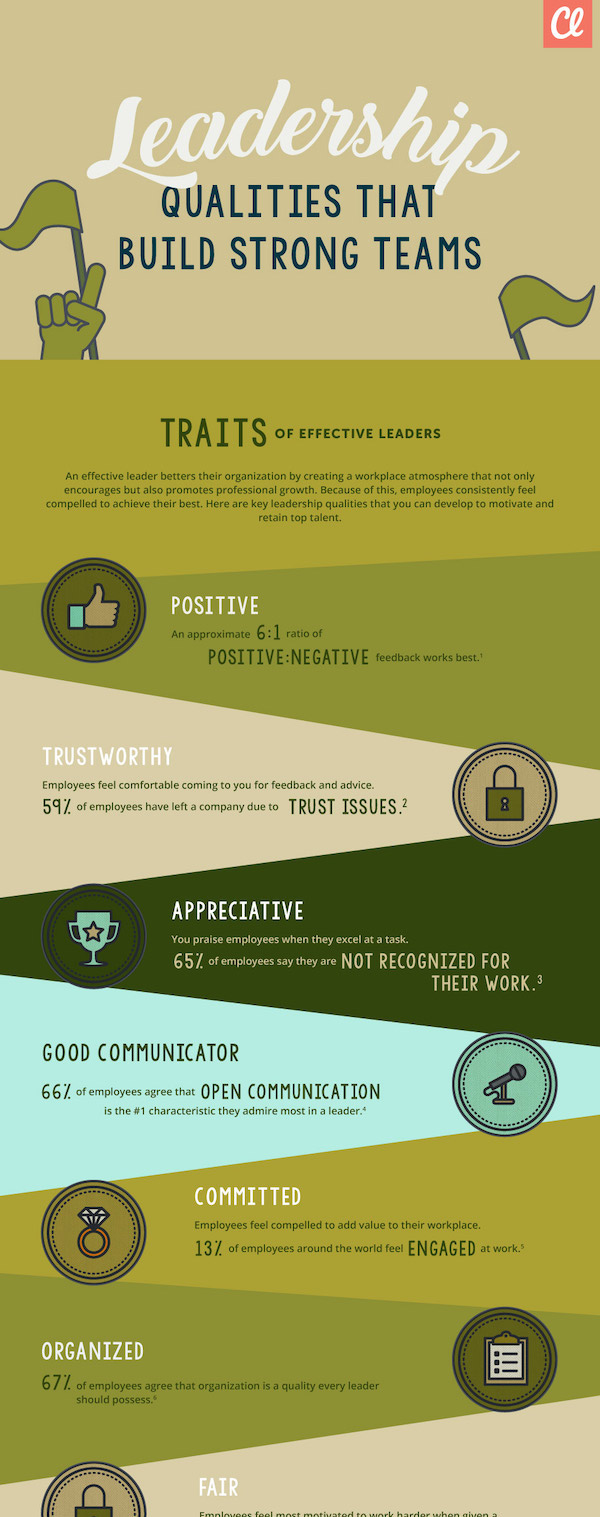Leadership Qualities That Build Strong Teams Leadership Infographic