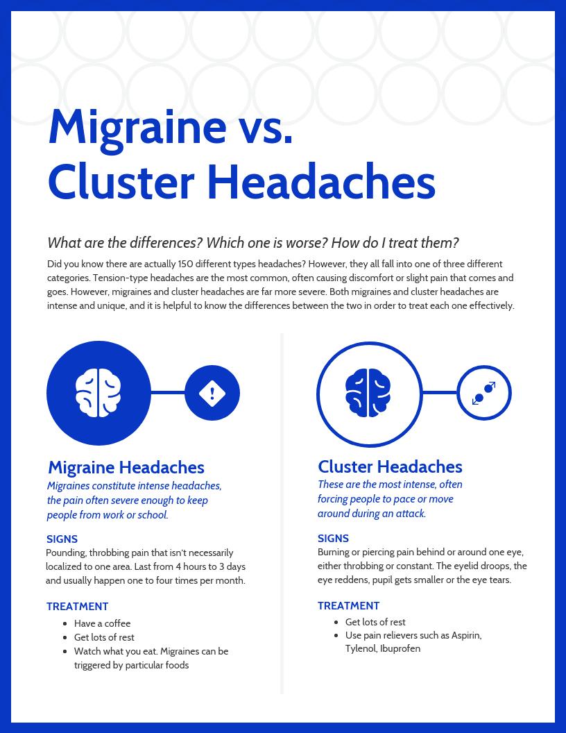 Headache Comparison Infographic Template
