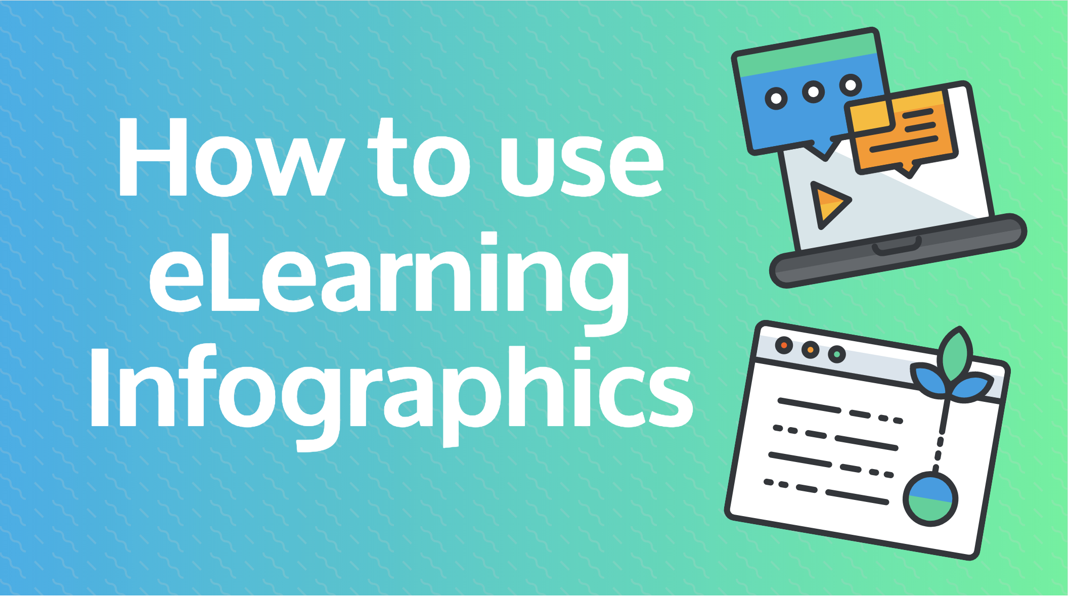 How to use eLearning infographics header