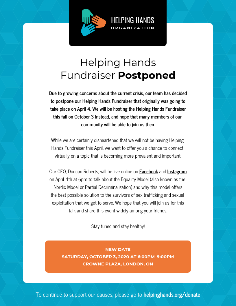 Fundraiser Event Email Newsletter Template