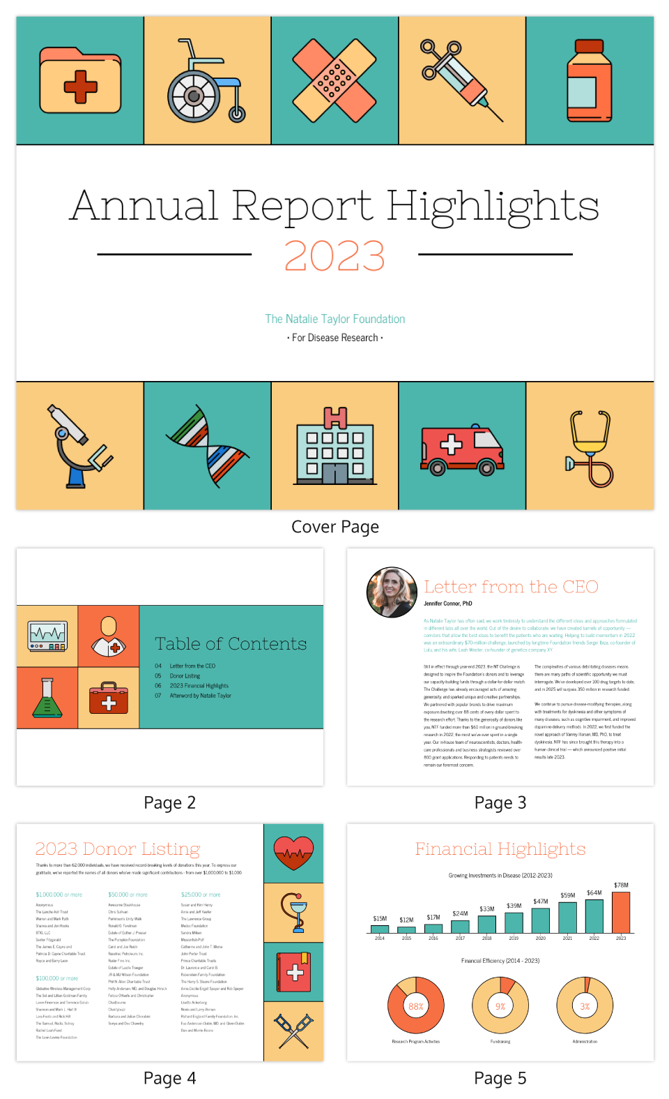 Illustrative Medical Nonprofit Annual Report Template