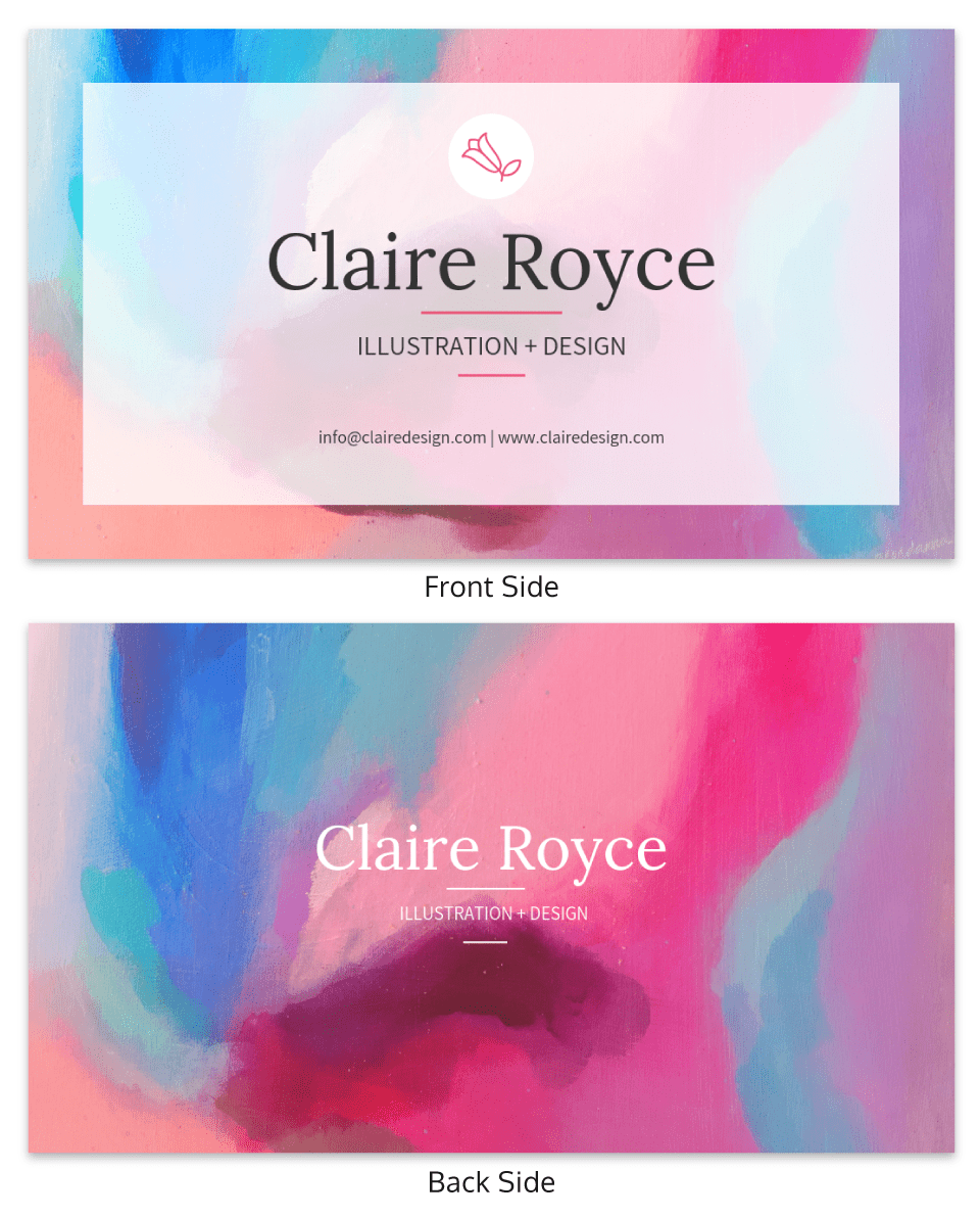 Impressionist Illustrator Business Card Template