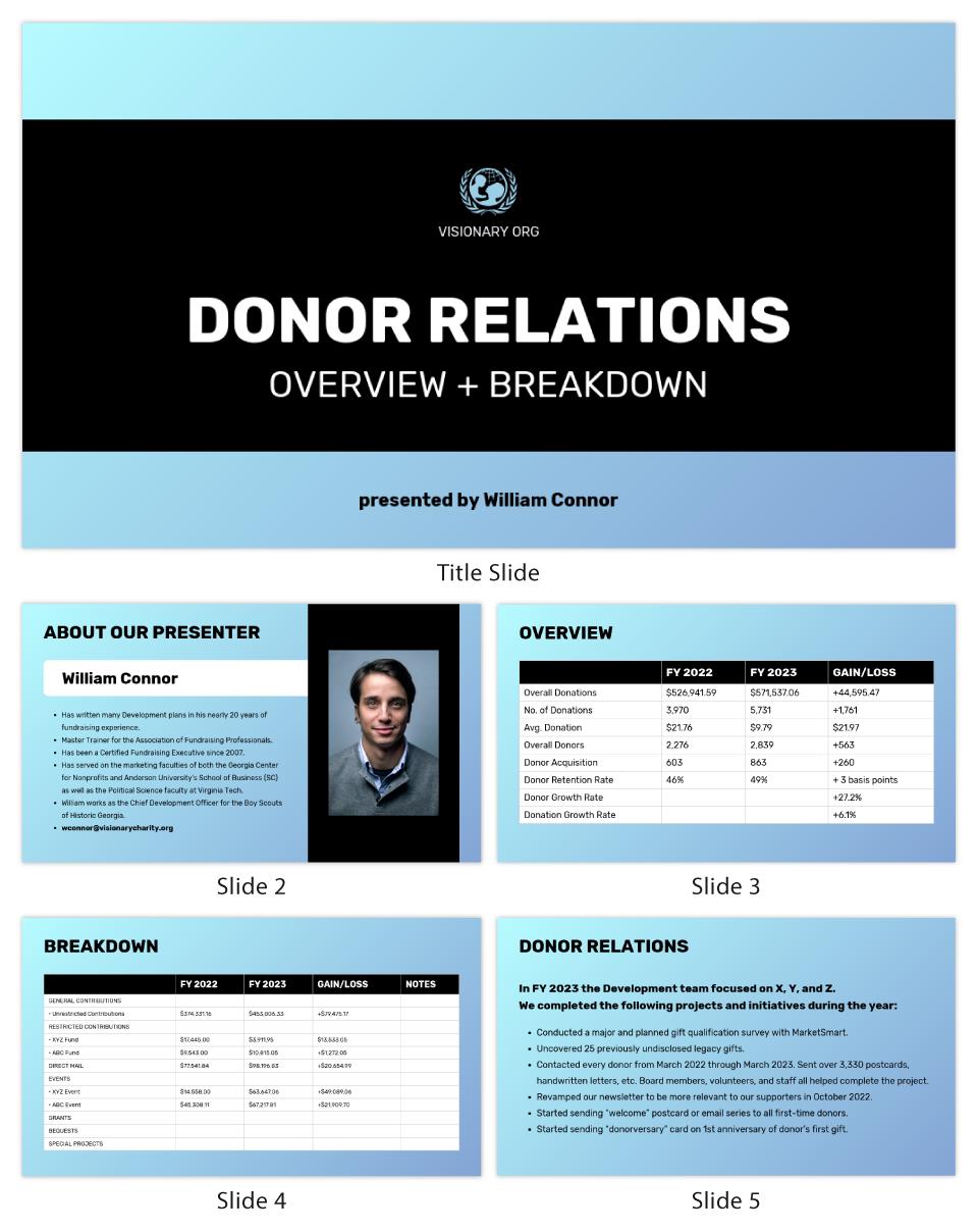 Nonprofit Stakeholder Presentation Template