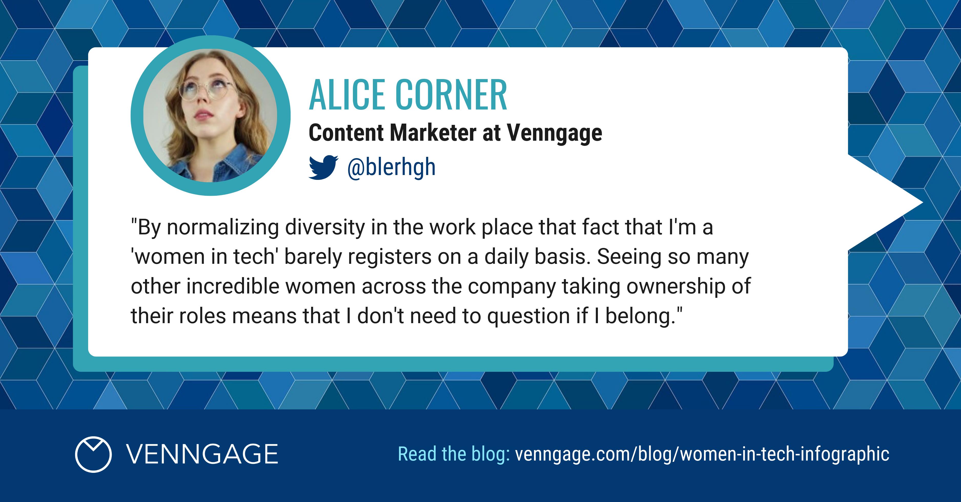 Women In Tech Alice Corner Social Media Quote
