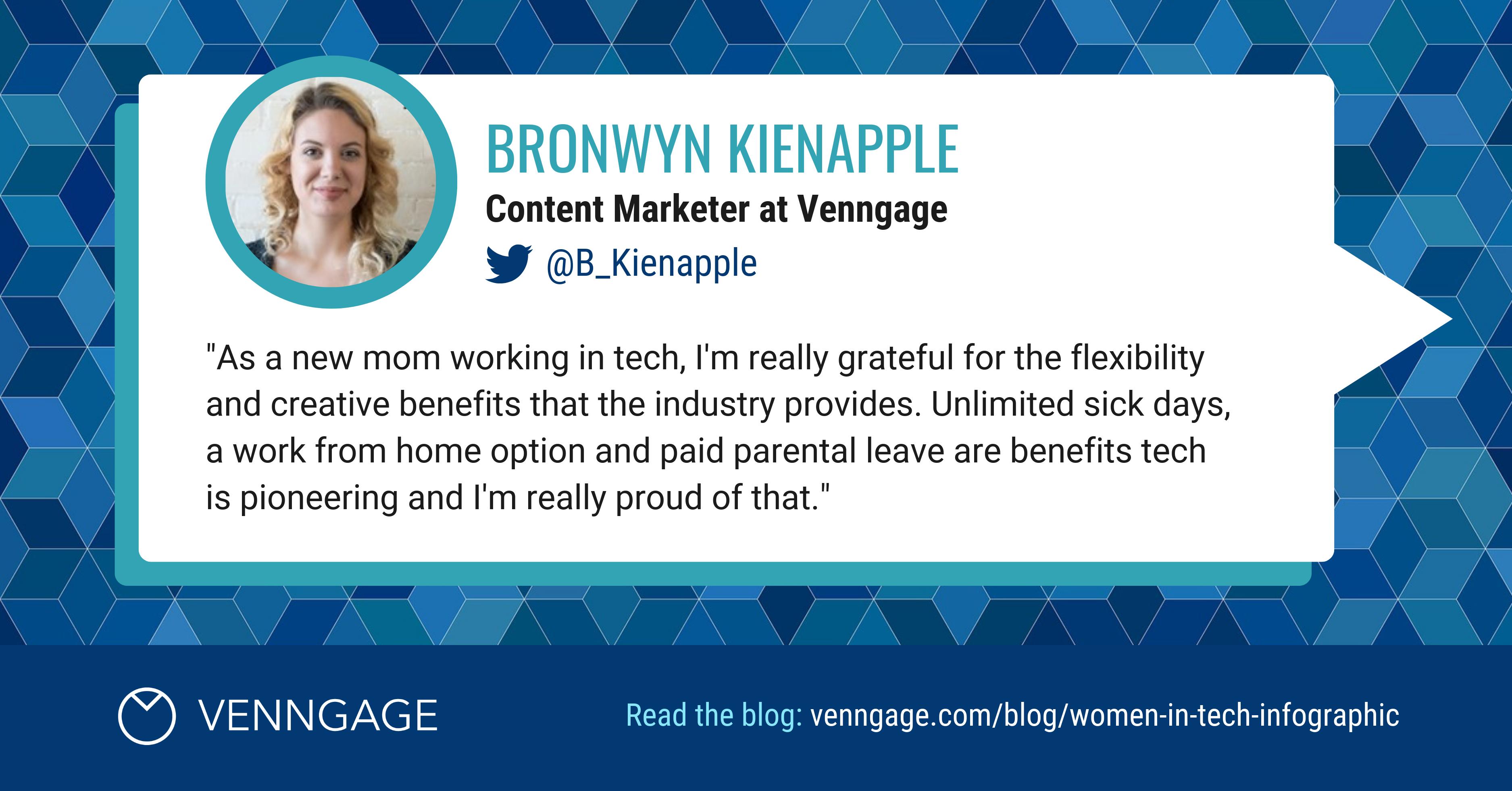 Women In Tech Bronwyn Kienapple Social Media Quote