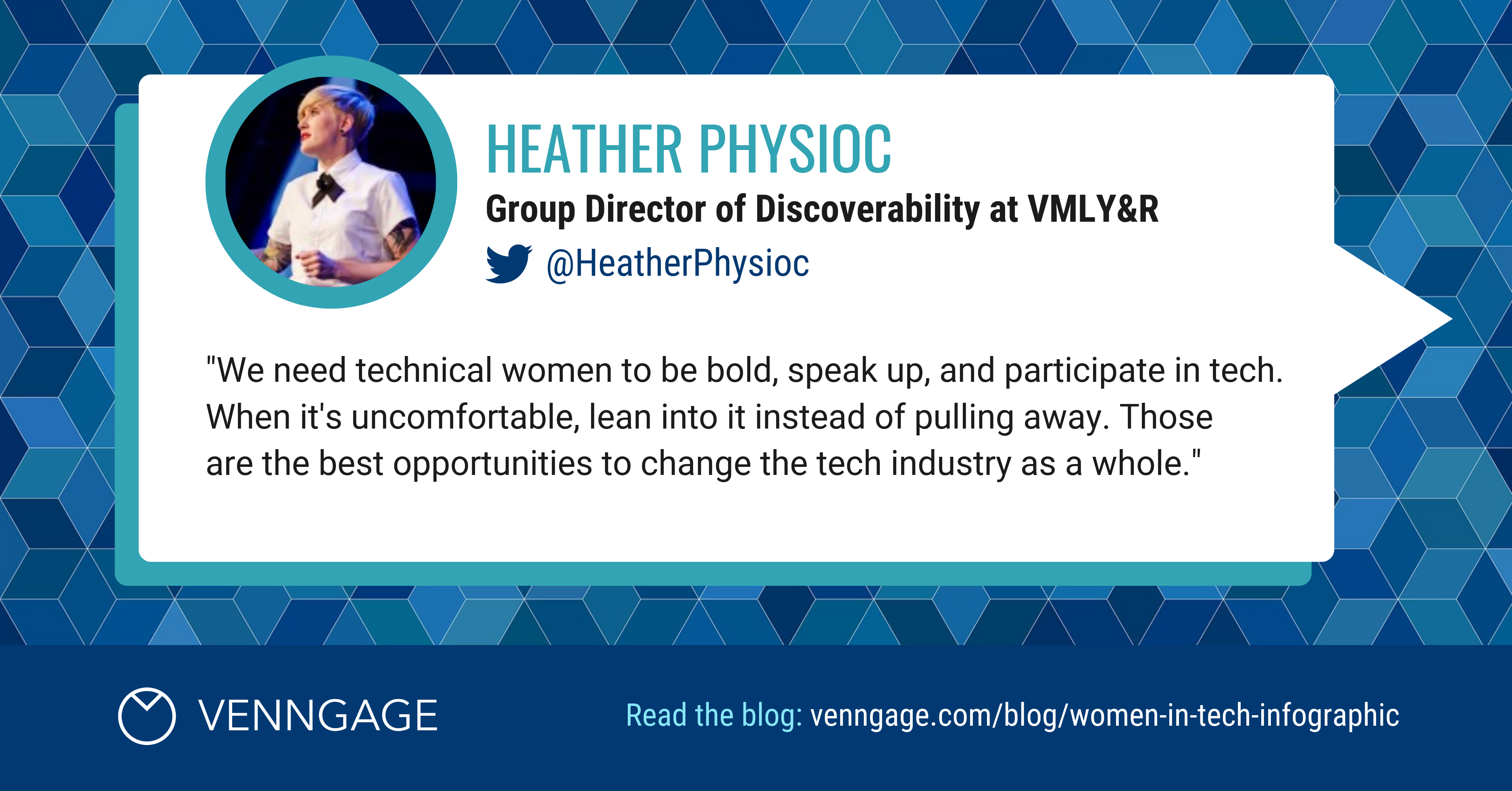 Women In Tech Heather Physioc Social Media Quote