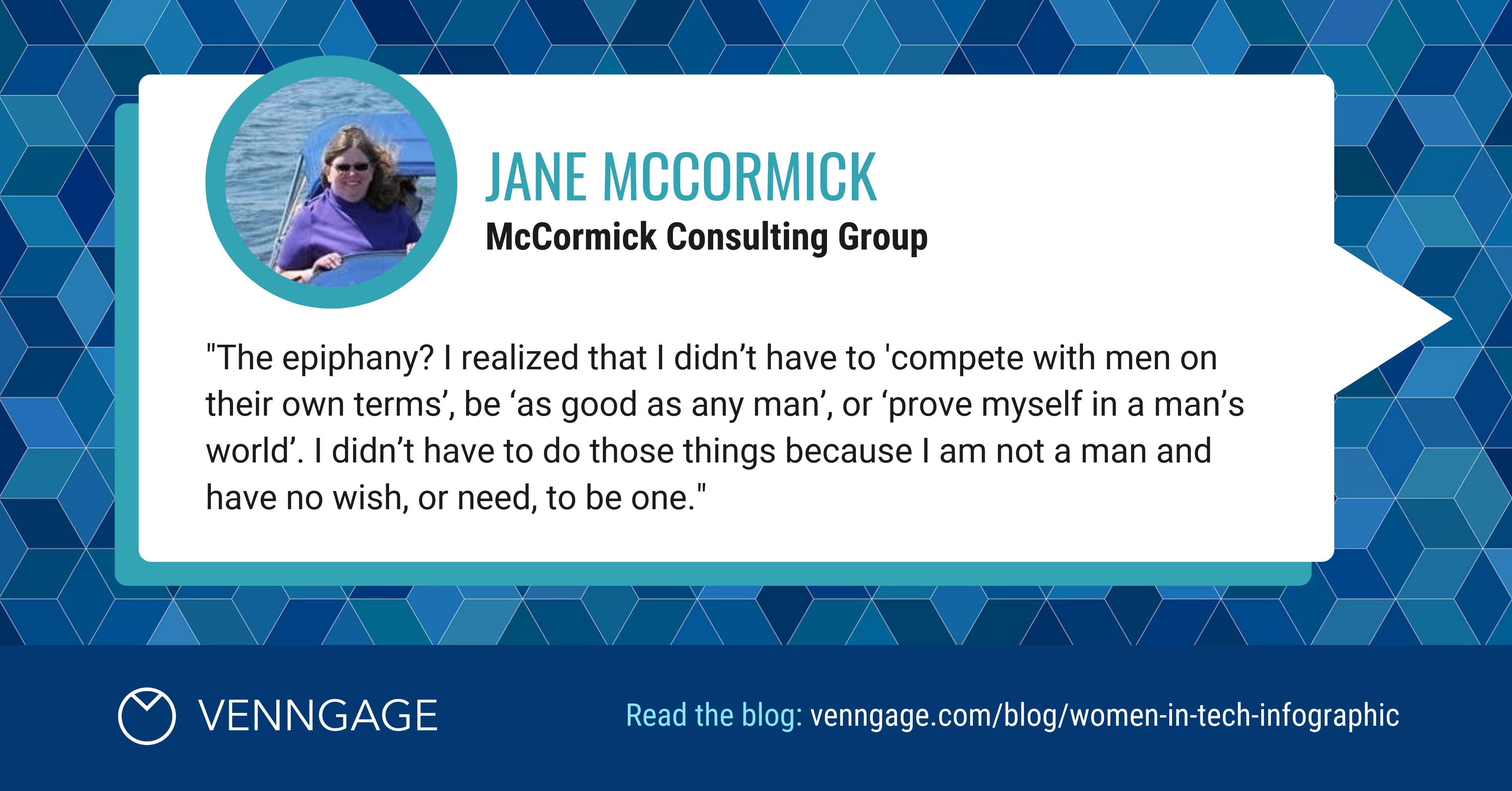 Women In Tech Jane McCormick Social Media Quote