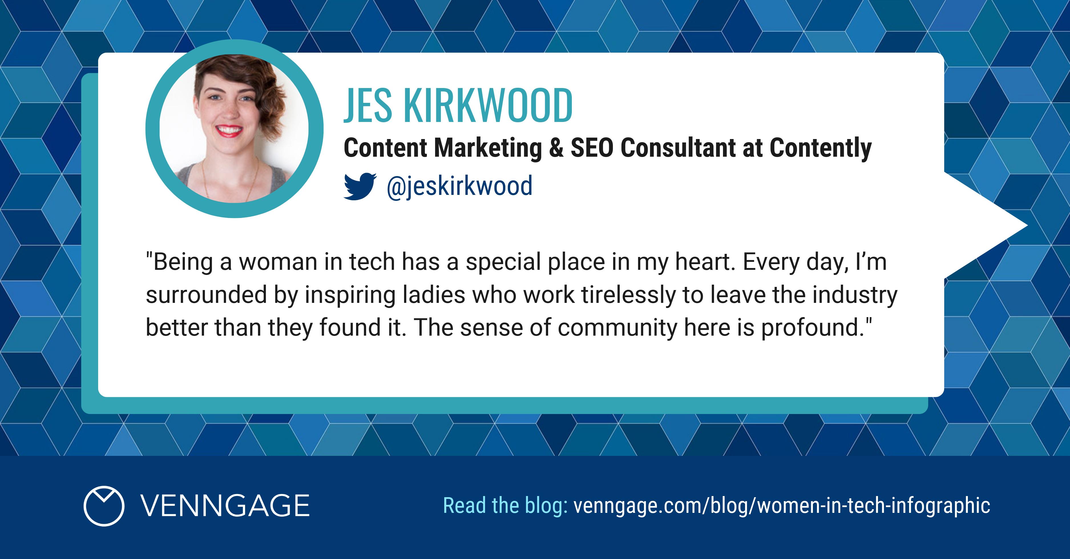 Women In Tech Jes Kirkwood Social Media Quote