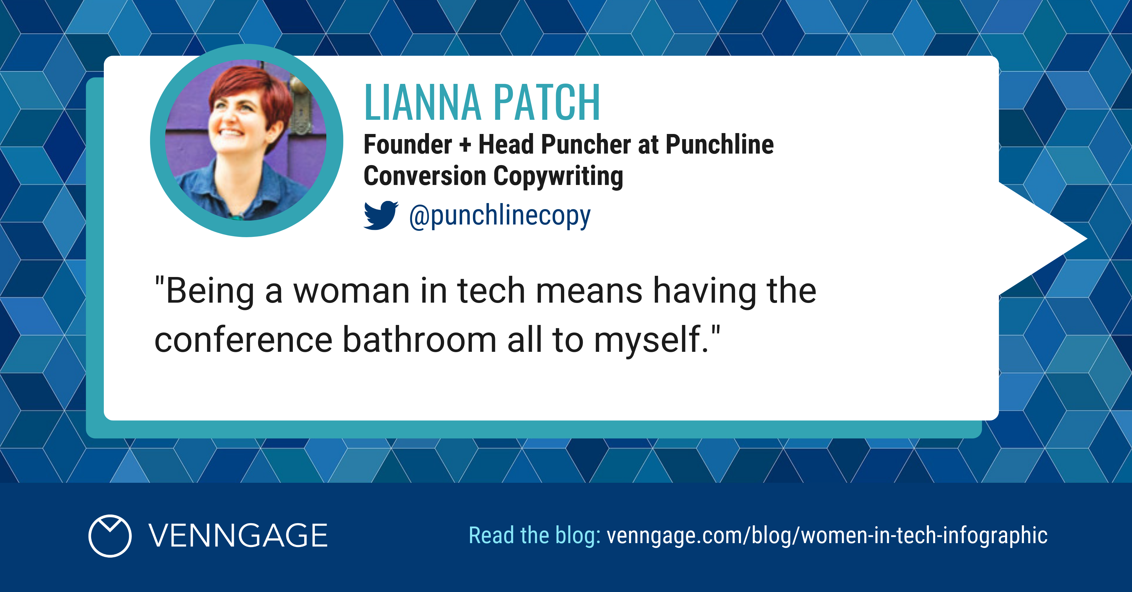Women In Tech Lianna Patch Social Media Quote