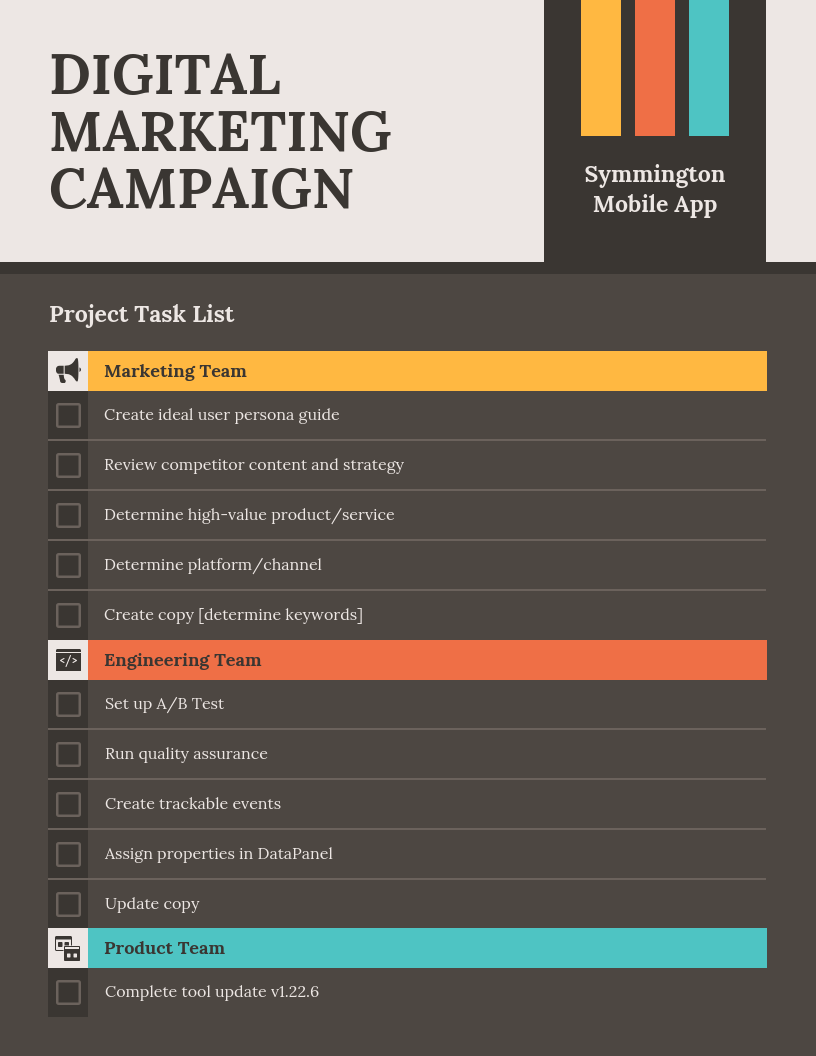 project checklist template remote team communication