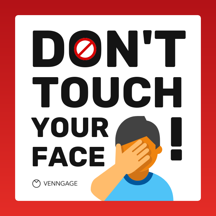 Don't Touch Your Face Instagram Post Template