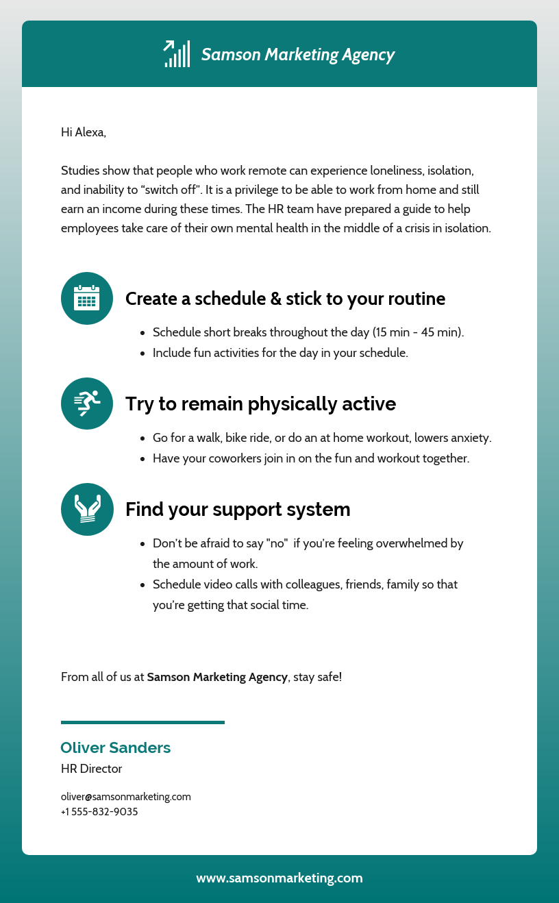 Health And Wellness Guide Email Newsletter Template